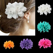 Girls Wedding Orchid Flower Floral Clip Hairpins Bridal Party Hair Accessories