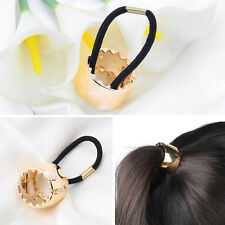 Girls Hair Band Metal Hair Wrap Pony Tail Holder Ring Rope Circle Accessory WE
