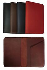 Handmade USA Genuine Leather Top Stub Checkbook Cover Wallet Case Smooth Finish