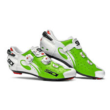 SIDI Wire Carbon Road Cycling Shoes - Green Fluo/White Color, Size: 39~46 EUR