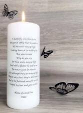Memorial Absence Remembrance Candle Butterfly Who Flew By Me Poem FREEPOST