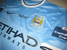 Manchester City 2013-2014 NIKE Capital One Football League Cup Final Home Shirt