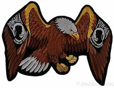 """POW MIA Eagle Patch You Are Not Forgotten Patriot Embroidered Rider Military 13"""""""