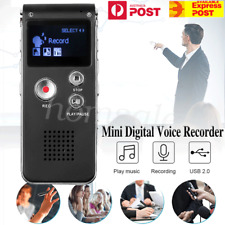 8/16GB USB Rechargeable Digital Sound Voice Recorder MP3 Player Telephone OZ