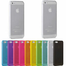 New 0.3mm Ultra Thin Back Transparent Clear Case Cover Skin For iPhone 5 5S 4 4S