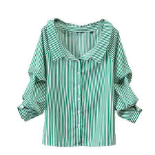 Striped Women Blouses 2017 Off Shoulder Shirt Female Tops Summer Womens Clothing