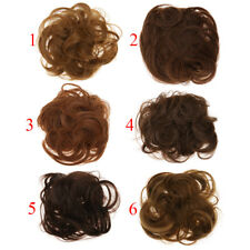 Clip Wavy Curly Drawstring Synthetic Hair Bun Updo Cover Chignon Extensions