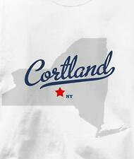 Cortland, New York NY MAP Souvenir T Shirt All Sizes & Colors
