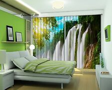 3D Waterfall 74 Blockout Photo Curtain Printing Curtains Drapes Fabric Window AU