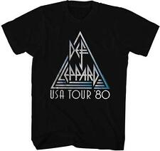 USA TOUR 1980 Def Leppard English Rock Band Heavy Metal Hard Rock Adult T-Shirt