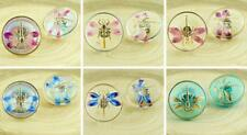 1pc Crystal Gold Insect Handmade Czech Glass Buttons Size 8, 18mm