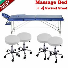 "BestMassage Black 84""L 3"" Pad Portable Massage Table Facial Bed Spa Chair LOT BA"