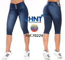 CHNT Capris Jeans Colombianos, Authentic Colombian Push Up Jeans, Levanta Cola