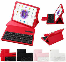 Detachable Bluetooth Keyboard + Leather Case Stand Cover For Apple iPad Tablet
