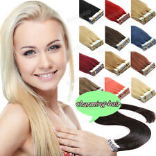 "Premium Remy Human Hair Extension Seamless Tape in Skin Weft Indian Hair 16""-26"""
