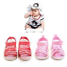 Baby Girls Summer Shoes Infant Lace Soft Sole Non-slip Crib First Walkers Shoes