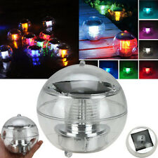 Sun Solar Power LED Color Changing Globe Light Waterproof Floating Swimming Pool