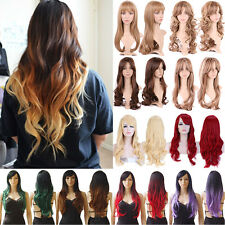 Women Full Wig Long Straight Short Wavy Hair Cosplay Synthetic Wigs Daily Hair