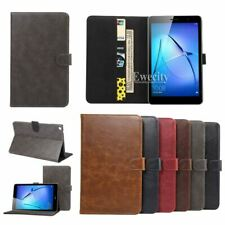 Luxury Folio Wallet Leather Stand Flip Case Cover For Huawei MediaPad T3 8.0/10