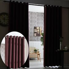 Thermal 100% Blackout Curtains Pair Eyelet Ring Top Ready Made Clearance Price!