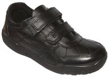 Buckle my shoe MEADOWCROFT Boys Black Leather School Shoes  10- 3 FG Fit BOXED