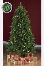 Green Gold Tinsel Pre Lit Christmas Tree Warm White LED Lights 5 6 7ft