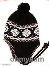 1 NEW MULTI COLOR PERUVIAN STYLE THERMAL SKI HAT/EAR FLAP ADULT SIZE FREE SHIP
