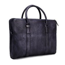 ROCKCOW Mens Business Genuine Leather Briefcase Messenger Laptop Shoulder Bag