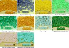 40pcs Matte Frosted Glass Tile Flat Square 2 Two Hole Czech Glass Beads 6mm