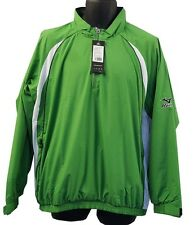Mens Mizuno Windlite 1/4 Zip Showertop 93WT820 Emerald/White Brand New