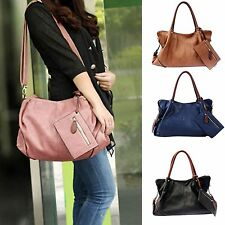 3Pcs/Set Women Soft PU Leather Shopper Tote Lady Tote Purse Handbag Shoulder Bag