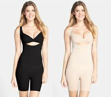 NEW  SPANX  Women's Thinstincts Open-Bust Mid Thigh Body Shape BodySuit 10021R
