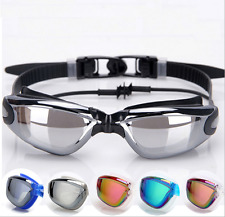 New Adult Electroplate Anti-fog Swimming Goggles Swim Glasses UV Protection