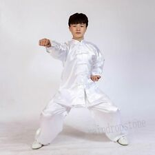 New Unisex Tai chi Wushu Martial Arts Kung FU Silk Blend Excercise Suits Uniform