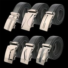 Classical Automatic Belt Buckle Genuine Leather Belts Mens Waist Strap TE