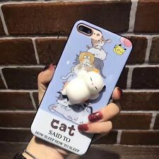 Squishy 3D Soft Silicone Cat Paw Kawaii Phone Case Cover For iPhone 6 6s 7 Plus