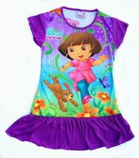 Dora The Explorer Girls Nightgown Pajamas Size  6-7T K81