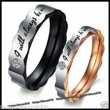 Love You Rings Promise Lovers Gifts For Her Him Girlfriend Wife Couple Men Women