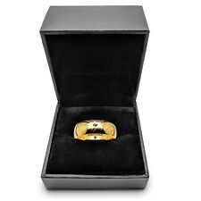 Lord of the Rings *The One (Tungsten) Ring* 18k Gold Plate or Black With Box