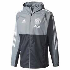 adidas Manchester United Training Rain Jacket 2017/18 - Grey - Mens