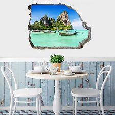 3D Islands Sea 78 Wall Murals Stickers Decal breakthrough AJ WALLPAPER AU Lemon