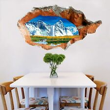 3D Mountain Lake 71Wall Murals Stickers Decal breakthrough AJ WALLPAPER AU Lemon
