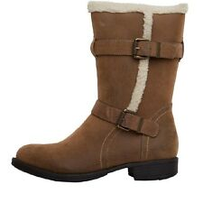 Board Angels Womens Mid Buckle Boots Brown