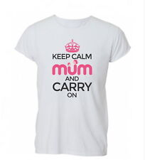 Keep Calm And Carry On Mum T Shirt Tshirt Mens Womens Gift
