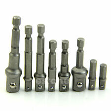 """1/4"""" 3/8"""" 1/2""""Power Drill Bit Driver Hex Socket Bar Wrench Adapter Extension"""