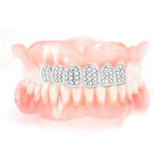 Plated HIP HOP Teeth Grillz With Vampire Teeth Plated Iced Out Grillz BE