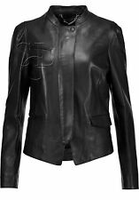Womens Black Soft Real Leather Jacket