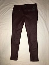 Womens Mossimo Cabernet Red Stretch Ankle Pant Sz 8,12 NWT