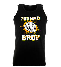 You Mad Bro Sherman Funny Hip Cool Work Out Vest Mens Gym