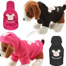 Pet Dog Cat Clothes Apparel Puppy Dog Clothing Winter Warm Coat Hoodie Jacket